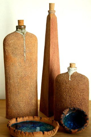 Ceramics - Ceramics by Raquel, Bottles and bowls set