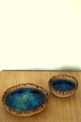 Ceramics - Ceramics by Raquel, Bowls with molten glass