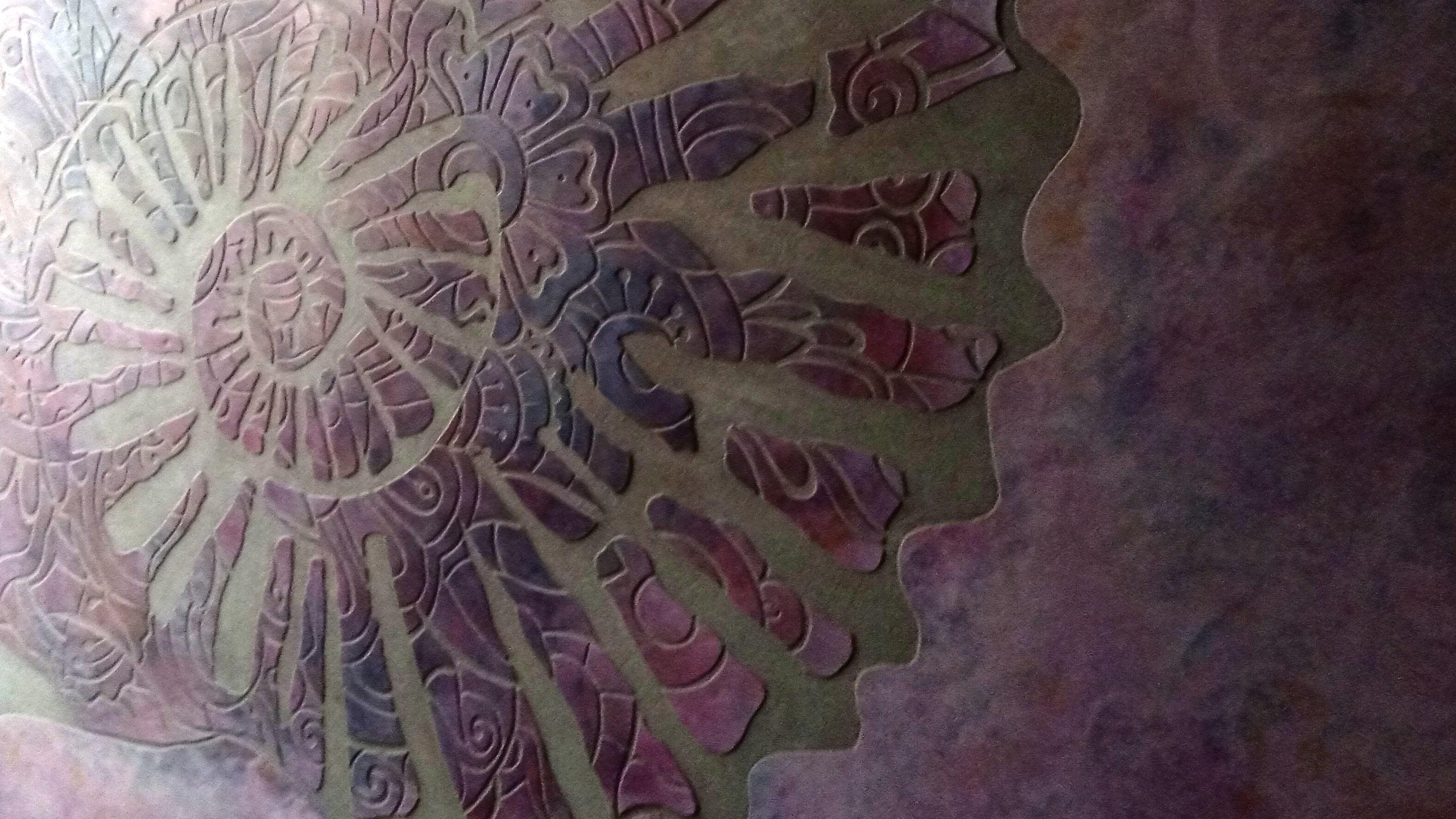SgraffitoStucco - Doloris Meta Maze, Nautilus shaped design