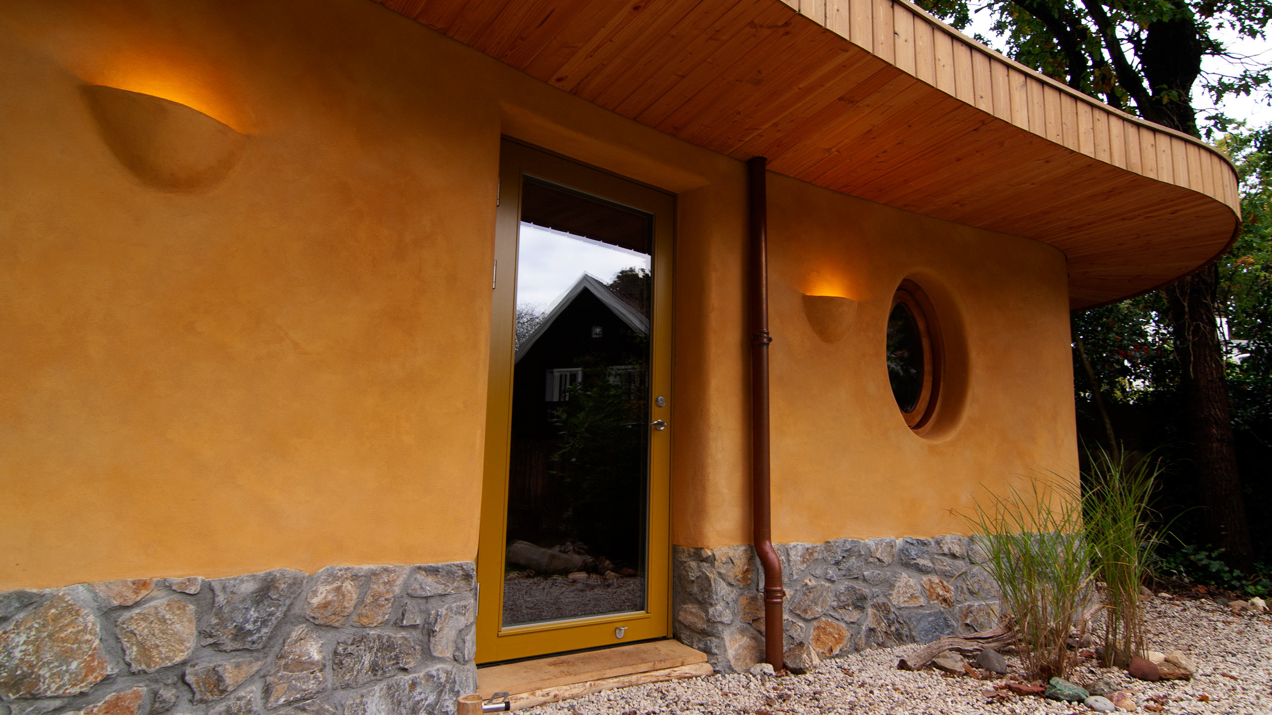 Commercial - Meditation House, Front facade