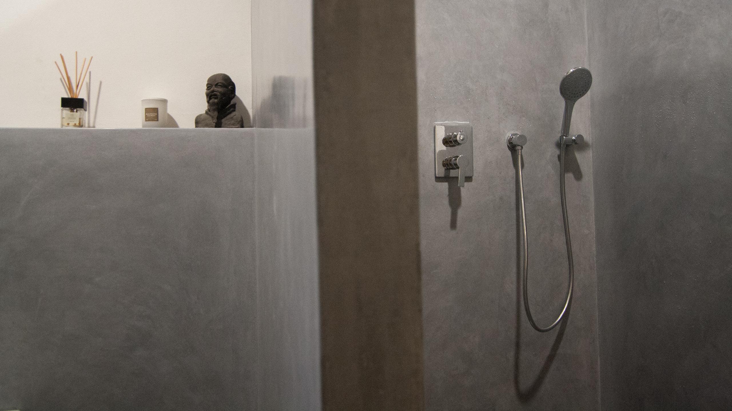 WaterproofStucco - Pearl Grey Bathroom, Caring for details